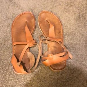 Brown leather Topshop sandals